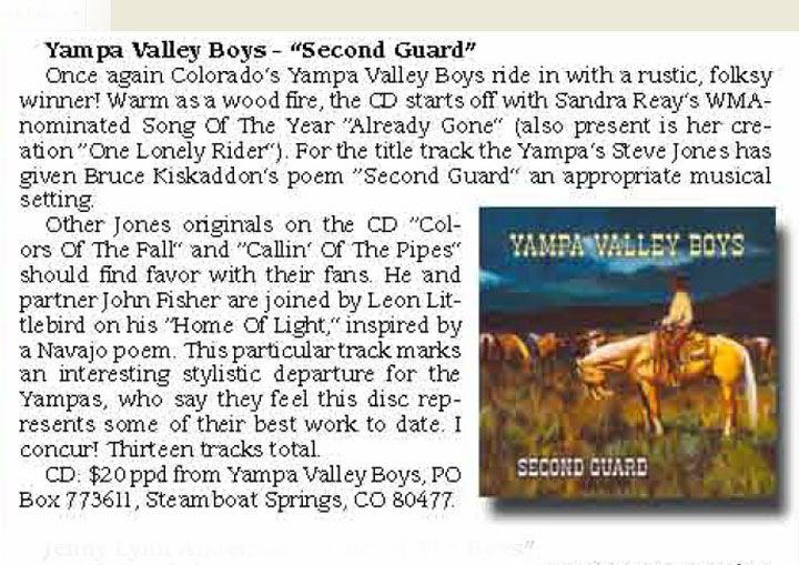 Yampa Valley Boys CD Second Guard